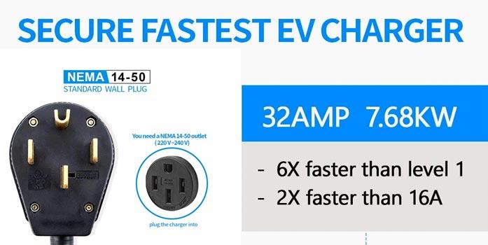 NEMA 14-50 ev car charger charging station for home