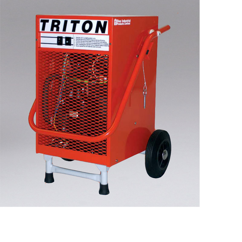 Nikro 860952 TRITON DEHUMIDIFIER The Triton Professional Dehumidifier is the ideal unit for commercial and residential work. Its compact size permits one man operation, yet has the capacity to handle several room-size areas at a time.