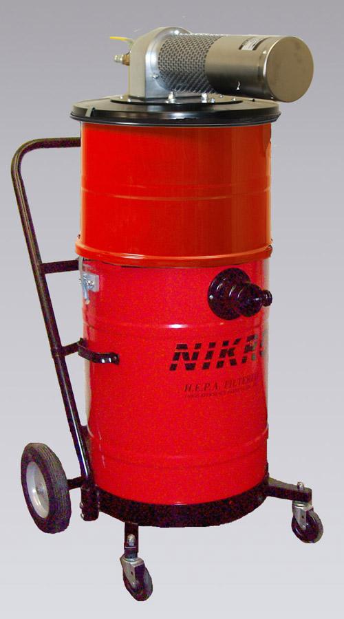 Air Powered Vacuum : Nikro ahw painted steel pneumatic vacuums