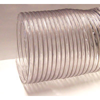 Nikro 860245 8 inch X 25 ft Heavy Duty PVC Flex Air Duct Cleaning Hose