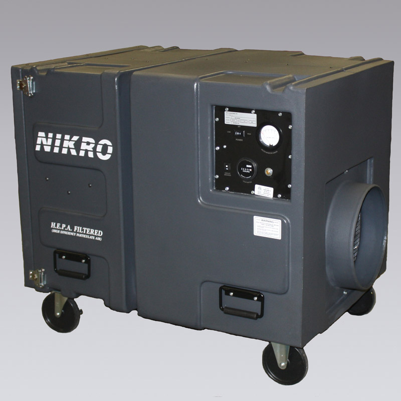 Nikro PS2009 POLY AIR SCRUBBER Light weight, dent and corrosion resistant portable polyethylene air scrubber.