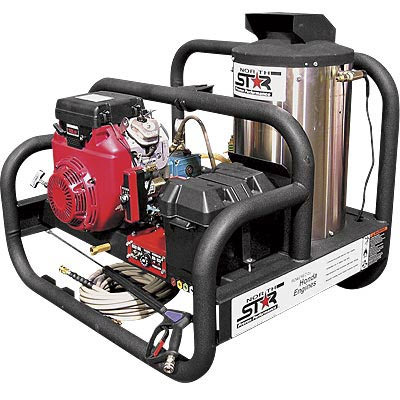 NorthStar 157594 Gas Powered Hot Water Pressure Washer With Honda Engine  4000PSI 4GPM Skid Style
