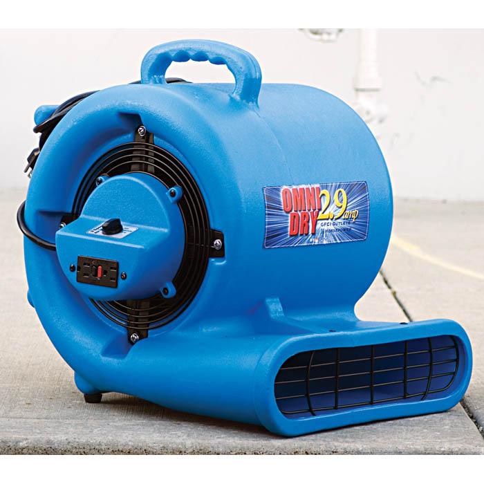 hydroforce omni pro gfci air mover fan for restoration contractors