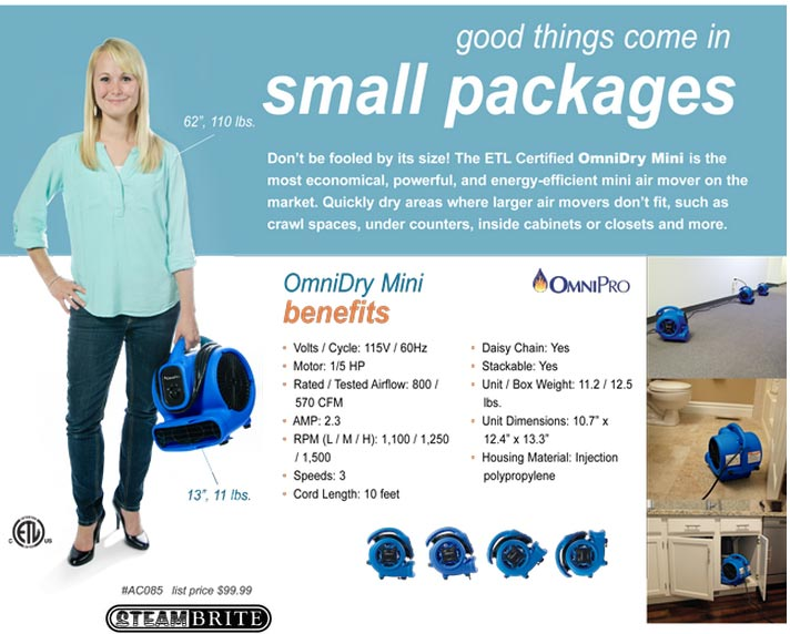 Omni Dry Air Mover FULL SIZE not mini