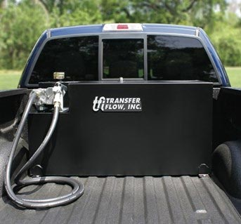 pick up truck fuel tank with pump transfer flow