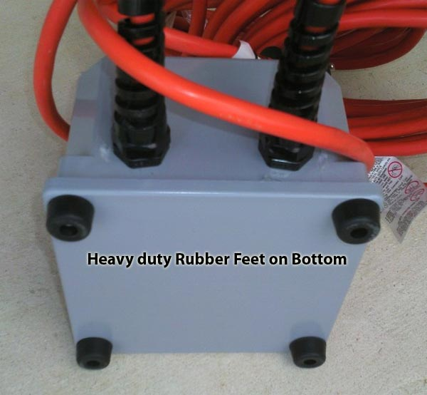 electrical power converter with heavy duty feet