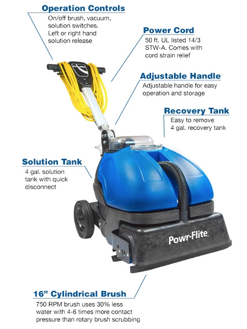 powerflite pfmw14 auto scrubber tile cleaning macine