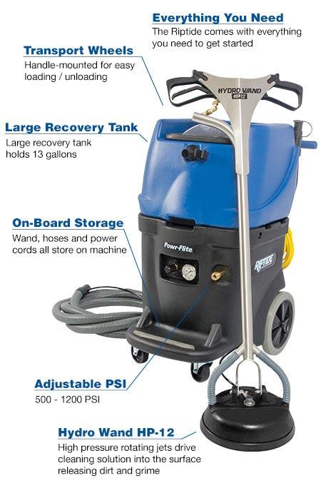 Powrflite Pf1200rt Riptide Tile Cleaning Machine 15 Gal