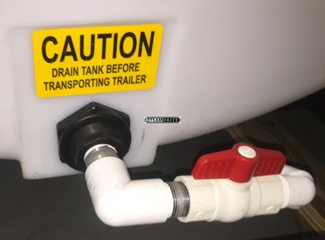 pressure pro trailer water tank drain system