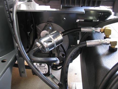 pressure washer burner fuel filter