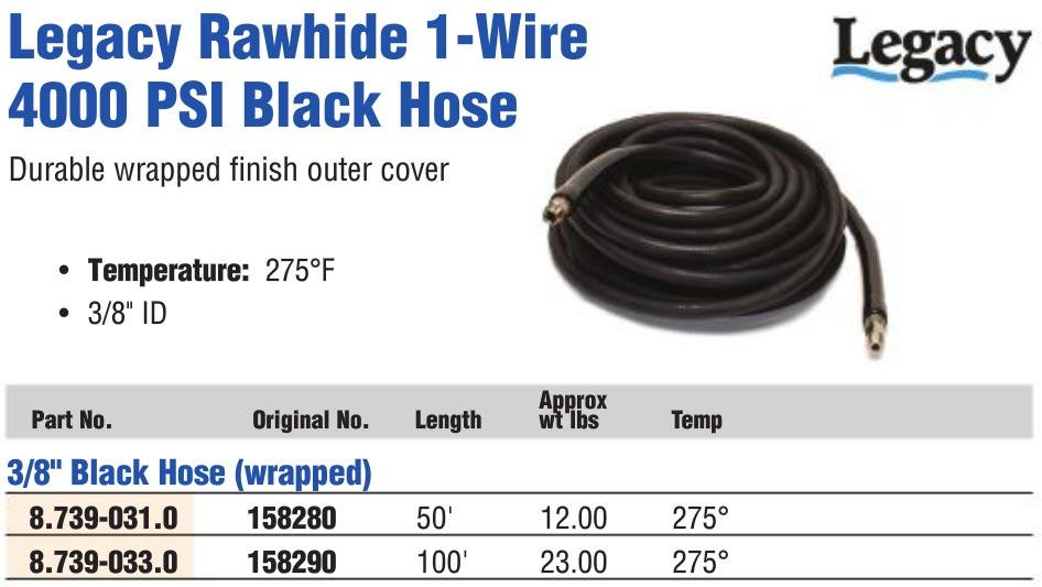 pressure washer rawhide 4000 psi hose