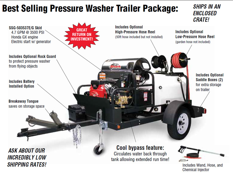 shark pressure washer trailer lbs gal trs    gpm  psi hot