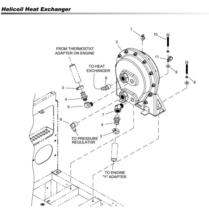 Prochem Pp57 520073 Truckmount Helicoil Heat Exchanger Complete