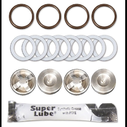 Plungers & Seals Repair Kit, Kit-B, Valve & Seals, 112T,112V,113C, 212T,217V,348U,350U,356U, M-Valve, Viton