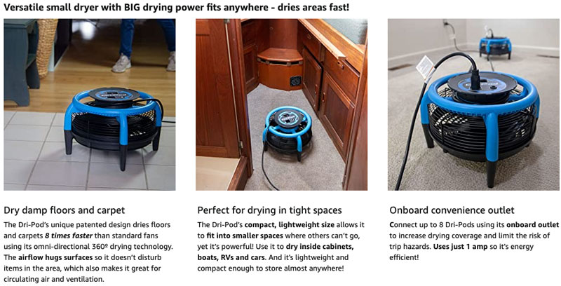small and tight space air mover