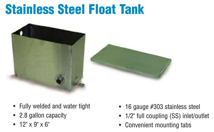 Stainless water box float tank with lid quot for