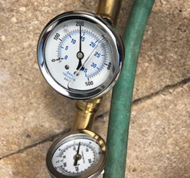 pressure and temperature test