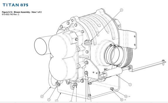 Hydramaster 5009 blower Titan 875