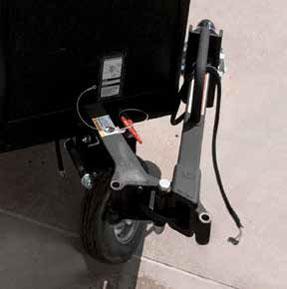 folding tongue pressure washer trailer