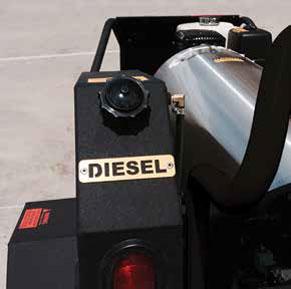trailer hot pressure washer fuel tank