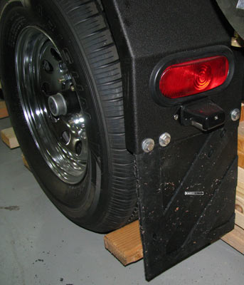 pressure washing trailer mud flaps