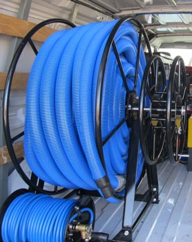 Truckmount Live Vacuum Hose Reels 200 Ft With Side Mount