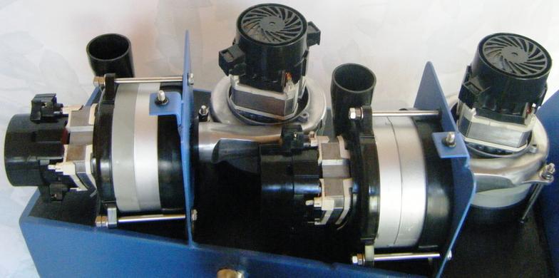 Steambrite locomotive hybrid truckmount quat vacs and back for Carpet extractor vacuum motor