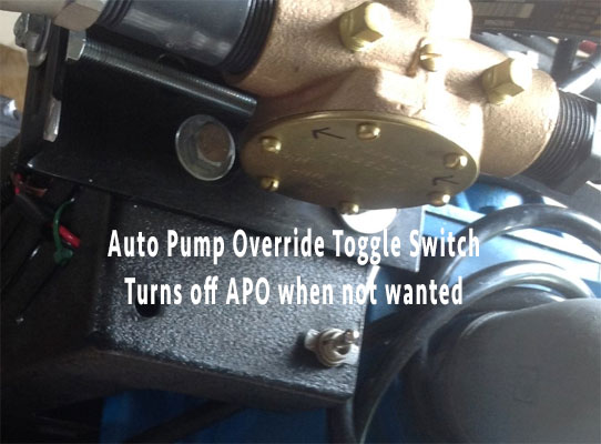 Truck mount auto pump out system