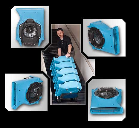 Velo F504 dri-eaz air mover carpet fan