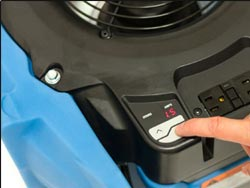 Drieaz Velo Pro F505 low profile air mover saves space!