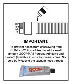 Mytee vinyl cuff lynx instructions.