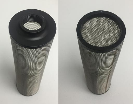 dirty water filter for vacuum waste tank and auto pump out