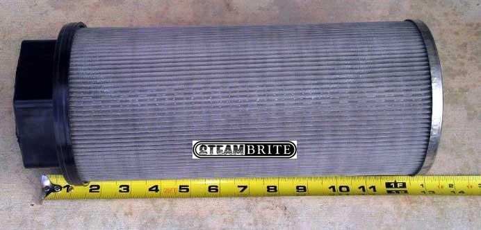 white machine truckmount filter