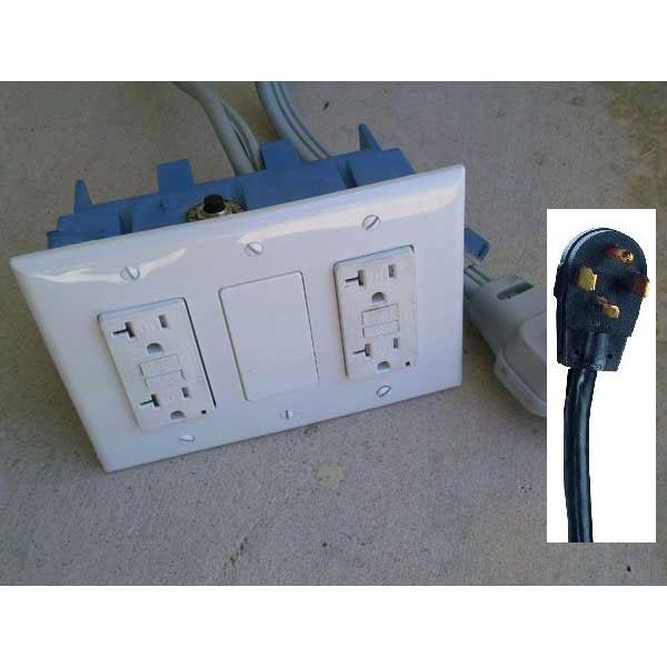 Electrical Converter 230 Volt 4 Wire Prong 30 Amp Nema 14