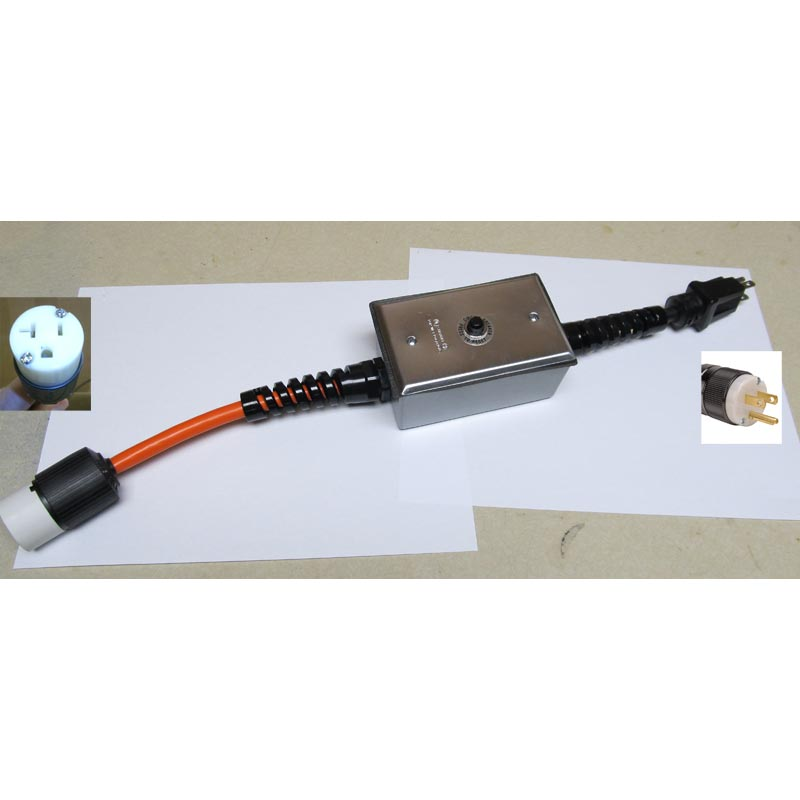 Clean Storm 3 Wire 15 Amp 120 Volt Male Plug to 3 Wire 20 ...