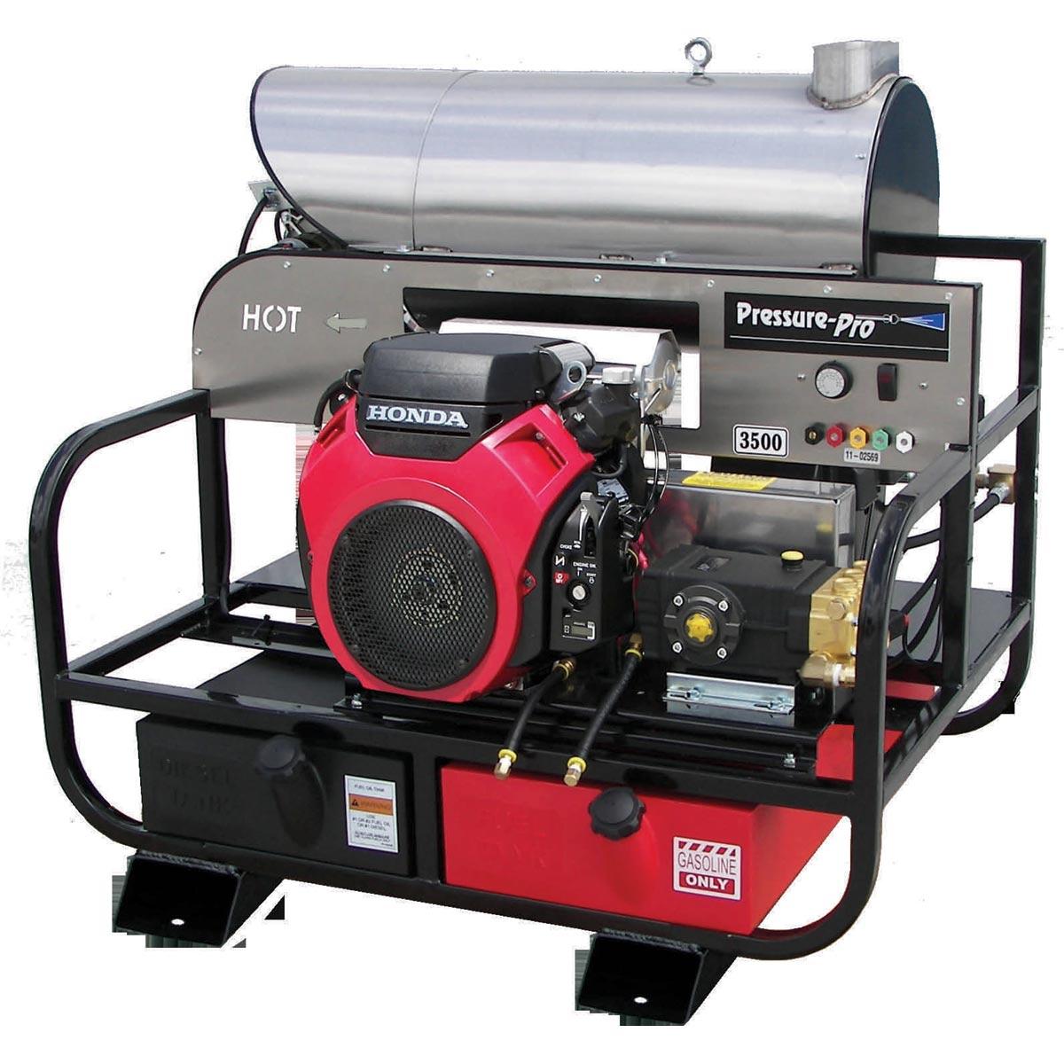 Pressure Pro Super Skid 8012pro 35hg Hot Washer 8gpm
