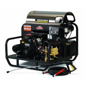 Shark Oil Fired Skid Gas Powered Hot Water Pressure Washer