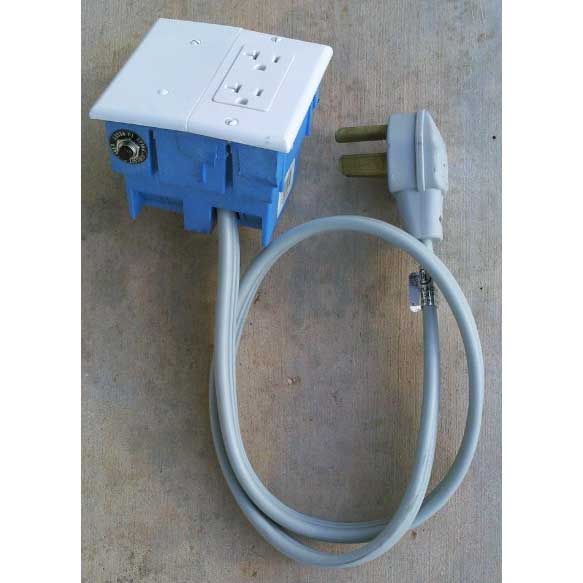 Electrical Converter 230 volt 3 prong 30 amp TO 115 volt Single Gang Adapter (2 outlets)
