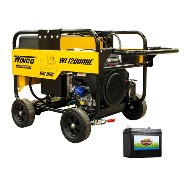 Winco Generators WL12000HE-03/A 50A PKG Industrial Portable Generators 12000/10800 Watt 120 Volt GX630cc Honda/OHV Engine FREIGHT INCLUDED w/CS6369